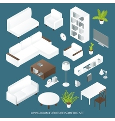 Living Room Furniture Isometric Set vector