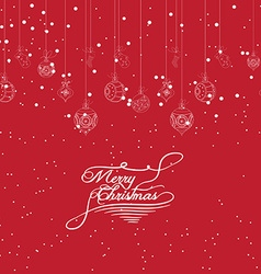 Merry Christmas banners with beads stars and vector