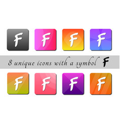 Multicolored buttons with symbol color buttons vector