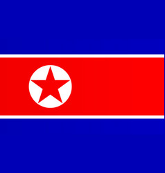 North korean flag vector