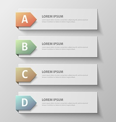paper infographic631 vector image