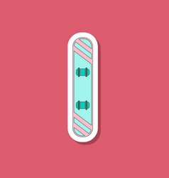 Paper sticker on stylish background snowboard vector