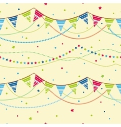 Party pennant bunting Seamless background vector image