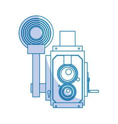 Photographic camera professional vector