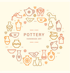 Pottery wheel potter clay horse and other vector
