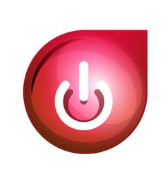 power button icon start symbol vector image