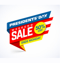Presidents day sale banner design template big vector
