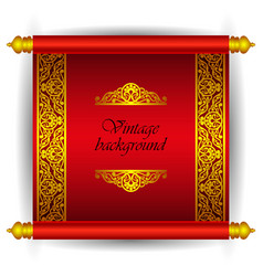 scroll banner in royal luxury moroccan arabic styl vector image