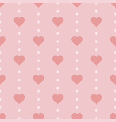 Seamless heart pattern vector