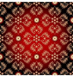 seamless red-black-yellow pattern vector image