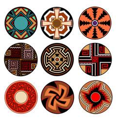 Set ethnic tribal design elements american vector
