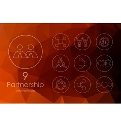 Set of partnership icons vector