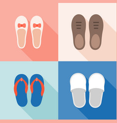 set of shoes icon vector image
