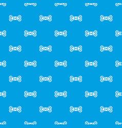 skein of yarn pattern seamless blue vector image