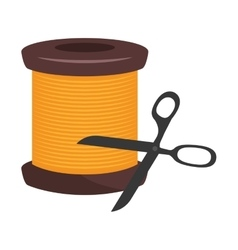 Spool of yellow thread vector