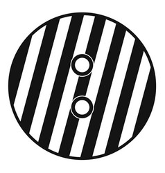 striped sewing button icon simple style vector image