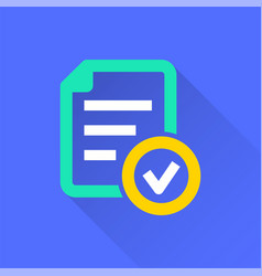 Survey - icon for graphic and web design vector