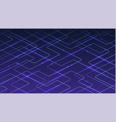 Technological digital blue background lines vector