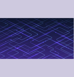 technological digital blue background of lines vector image