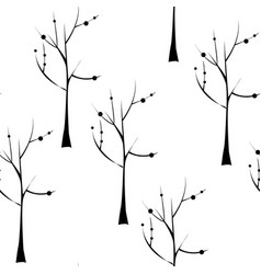 Trees on white background seamless pattern plant vector