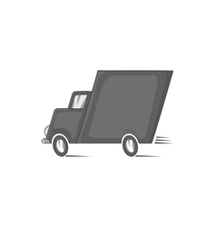 Truck icon black monochrome style vector image