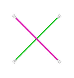 two crossed twirling batons vector image