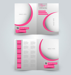 two page fold brochure template design vector image