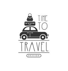 Typographic design logo for tourist agency vector