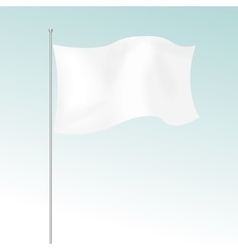 White Blank Flag Isolated on Background vector image