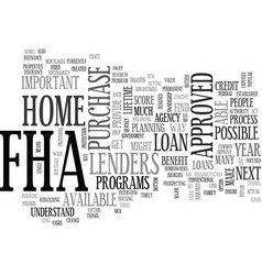 why bother with fha text word cloud concept vector image
