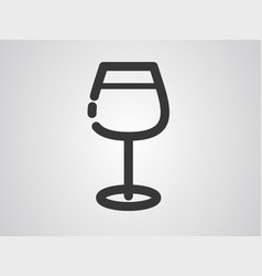 wine icon sign symbol vector image