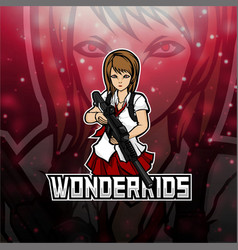 Wonderkids gaming logo for esports vector