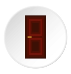Wooden interior door icon flat style vector
