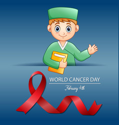 World cancer day february 4 world cancer day des vector