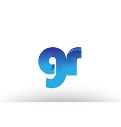 blue gradient gr g r alphabet letter logo vector image vector image