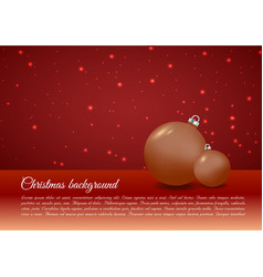 christmas background with christmas ball in gold vector image