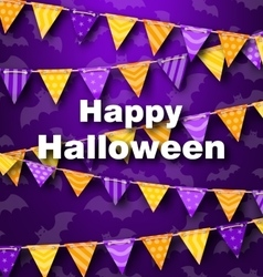 Colorful Hanging for Triangular String Halloween vector image vector image