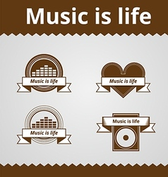 Conceptual icons for music vector image vector image