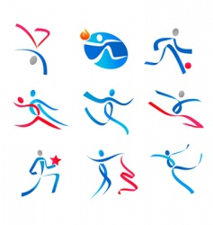 dancing people and sportsmen vector image