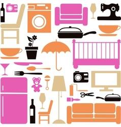 house furniture set vector image