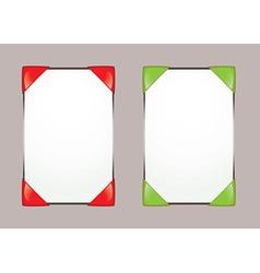 Paper notice board vector image vector image