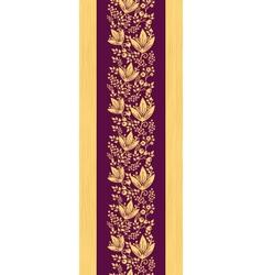 Purple wooden flowers vertical seamless pattern vector image vector image