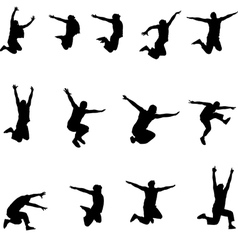 Set of images jumping athlete eps10 vector image vector image