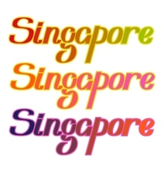 Singapore colorful letters title vector image