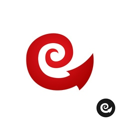 Spiral tribal element symbol with arrow head tail vector image vector image