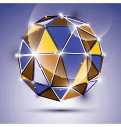 stylish shiny jewel effect eps10 Gala 3D vector image vector image