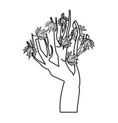 tree branch floral icon vector image