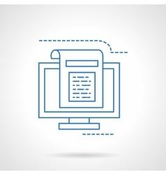 Blogging flat blue line icon vector image
