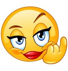 come female emoticon vector image