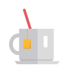 Cup of Tea in Flat Design vector image